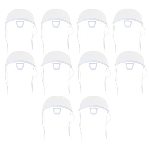 LUOEM 10 Stück Praktischer Transparenter Haltbarer Gesichtsschutz aus Kunststoff Antifog-Gesichtsschutz für Den Schönheitssalon Des Hotelrestaurants