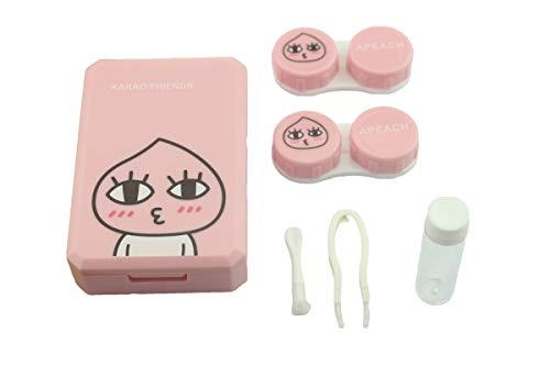 Nette Reisen farbige Kontaktlinsen Behälter monatslinsen kontaktlinsenbehälter (Hot Pink)