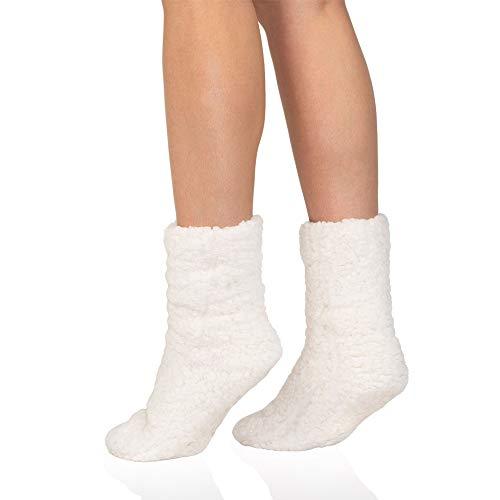 MR Goods Hüttensocken – Stoppersocken Kuschelsocken – Rutschfeste ABS Dicke Socken Damen und Mädchen - Extra Warm und Flauschig