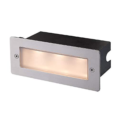 LED Lámpara de pared exterior 'Holly' (Moderno) en Gris hecho de Acero (3 llamas, A+) de Lucande   lámpara de pared empotrable para exteriores, aplique para pared exterior/fachada, para vivienda