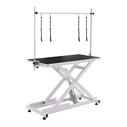 PAMPELLYA Electric Lifting Dog Grooming Table, 46 Inch Heavy Duty...