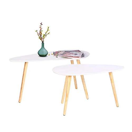 Happy Home Products Tavolino da caffè Moderno Set di 2 Tavolino da Salotto per Il Soggiorno Ufficio a casa (Tavolo Grande-85x50x45cm/ Piccolo tavolino-70x35x40cm)