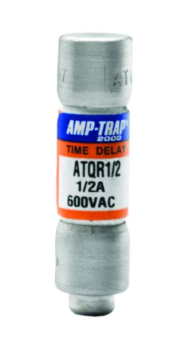 Mersen ATQR0.5 600V 0.5A Cc Time Delay Fuse, 10-Pack