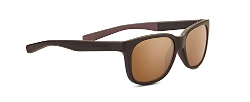 Serengeti Eyewear Erwachsene Egeo Sanded Dark Brown, Medium