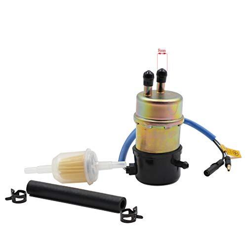 Electric Fuel Pump 12v Kawasaki Mule Fuel Pump 49040-1055 KAF620 3000 3010 3020 2520 2500 2510 1000(8mm In/Outlet)