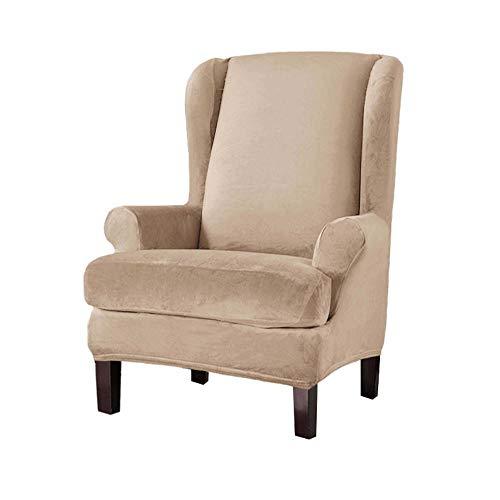 ADELALILI Ohrensessel Überzug Sesselbezug Sesselschoner Silberfuchs Fluff Sesselüberwürfe 2 Stück Elastisch Stretch Abwaschbar Husse für Ohrensessel