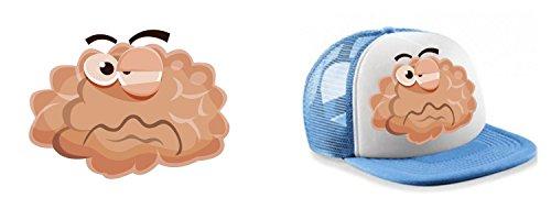 Colour Fashion Casquette Trucker Funny Brain 9 Couleurs au Choix Bleu Cobalt Noir Rouge Marine Bleu Ciel Orange Rose Vert Jaune Unisexe pour Femmes Bleu Ciel