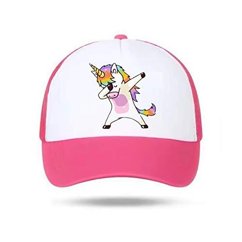 zhongjiany Gorra de béisbol Unicornio para niñas, niños, niños Sombrero de verano, sombrero para el sol, regalo único ajustable(Adjustable Rose)