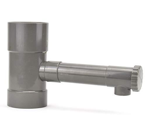 Regendieb Fallrohr Filter mit Hahn Regensammler Regenwassersammler Wasserdieb