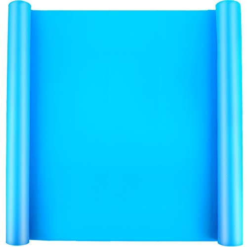 """LEOBRO 23.2"""" x 15.6"""" Large Silicone Mat for Crafts, Nonslip Nonstick Silicone Sheet for Jewelry Casting Mat, Heat-Resistant Craft Mat for Epoxy Resin, Glitter Slime, Paint, Sky Blue"""