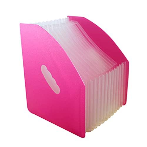 DREAMDEER Organizador de Archivos Accordian Carpeta de expansión de 13 Bolsillos Caja organizadora de Archivos portátil - D #