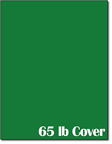 65lb Cover Cardstock Paper - 8.5 x 11 inch - 25 Sheets (Holiday Green)