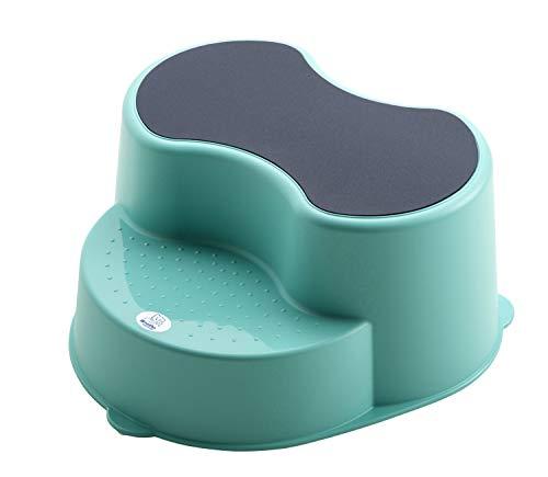 Rotho Babydesign TOP Tabouret Enfant, Surface Antidérapante, TOP, Curacao Bleu (Vert-Bleu), 200050235