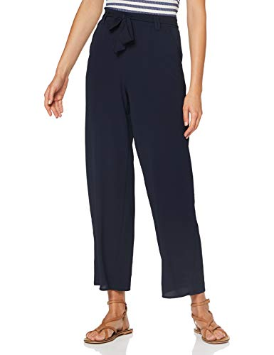 ONLY Damen Onlnova LUX Palazzo Pant SOLID WVN 5 Hose, Night Sky, 38