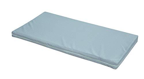 safe asleep von roba Stubenbettmatratze AIR BALANCE PREMIUMMESH, 45x85x5,5 cm, atmungsaktives 3D Material für ein optimales Schlafklima, mehrfach gerillt, gelocht, Baby-Kinderbettmatratze