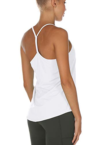 icyzone Dames Sporttop Strappy Fitness Yoga Tank Top Mouwloos Trainings Shirt