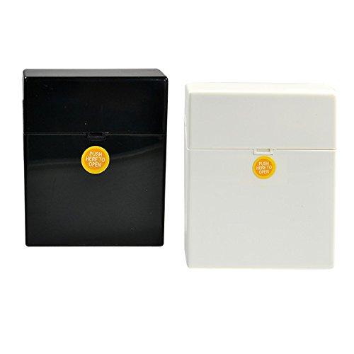 smokertools - Clic Boxx Zigarettenbox weiss oder schwarz Big Box, Farbe:Schwarz