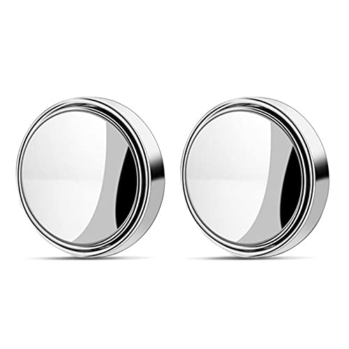 Hwtcjx toterwinkelspiegel auto, toten winkel assistent, 1 Paar zusatzspiegel auto, ABS-Schale, Kollisionsschutz, HD Verschleißfestes Glas, 360 ° verstellbar, für die meisten Autos (58 x 12mm, Silber)