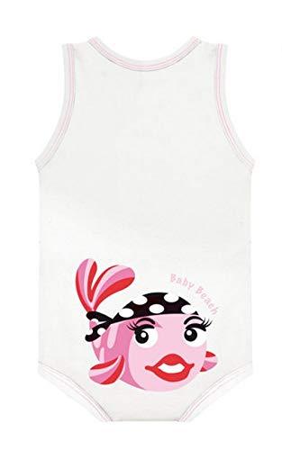 J Bimbi Body Bio algodón sin mangas Summer Fresh Pink Fish 0 – 36 meses