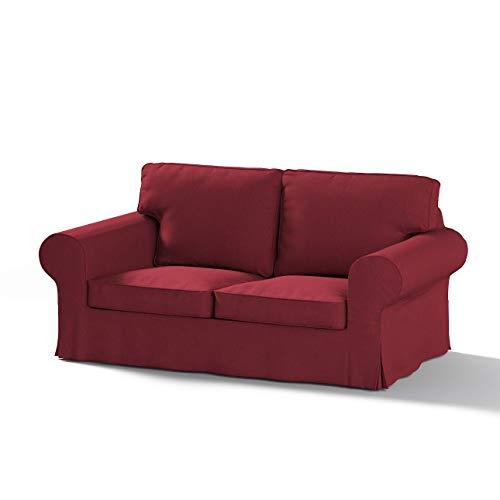 Dekoria Ektorp 2-Sitzer Sofabezug Nicht ausklappbar Sofahusse passend für IKEA Modell Ektorp Bordeaux