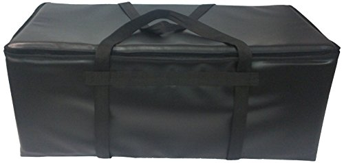 "TCB Insulated Bags GP-3-Black Insulated Pizza Delivery Bag, Holds 10 Each 16"" Pizzas, Zipper Lid, Black"
