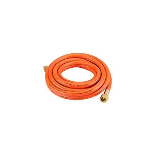 Silverline 522597 Gasschlauch 5 m, orange