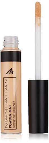 Manhattan Powder Mat Camouflage Concealer, 200 Light, Mattierender Creme-Concealer mit Applikator gegen Augenringe und Hautunreinheiten, 1 x 7ml