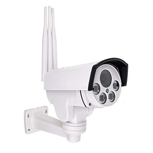 Secutek SBS-NC47G - Cámara IP giratoria (4G, 1080p, 50 m de infrarrojos, zoom 4x)