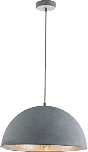 Hanglamp, eetkamer, vintage, grijs, hanglamp, industriële betonlook, industriële hanglamp, keukenlamp, hanglamp, 41 cm, hoogte 120 cm