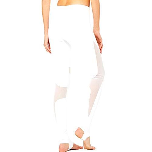 MEIHAOWEI Leggings Sport Femmes Pantalons Yoga Haute Maille Elastique Collants Respirants Gymnastique Elastique Pantalon Course Mince Extensible
