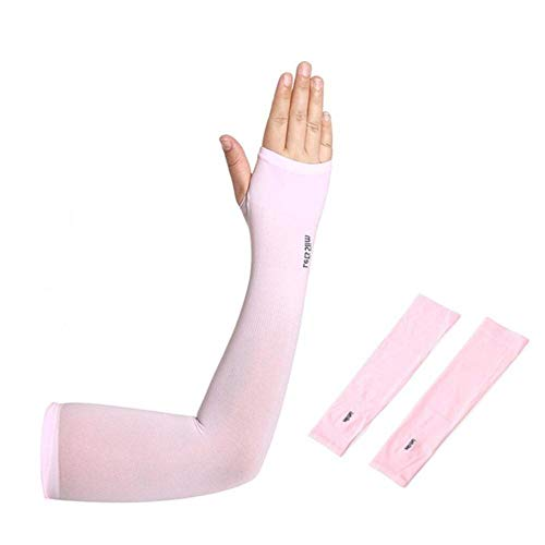 Guio Outdoor Ice Silk Protector solar de equitación para el brazo de conducción, protección al aire libre, color Rosa, tamaño CHINA