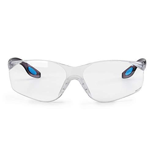 SolidWork SW8314 Profi Schutzbrille mit integriertem Seitenschutz, sowie beschlagsfreien, kratzfesten und UV Schutzbeschichteten Gläsern (Clear)