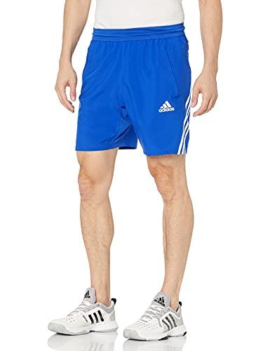 adidas Men's Standard Aeroready 3-Stripes 8-inch Shorts, Bold Blue, Large