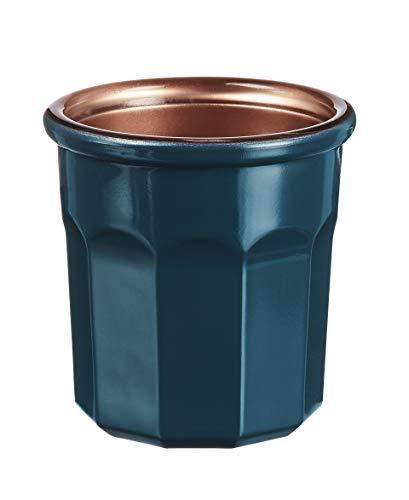 Luminarc – Vaso Carnaval de 9 cl – Vaso para bebidas calientes, vasos y decoración – Compatible con lavavajillas y microondas – Fabricación francesa – Color azul