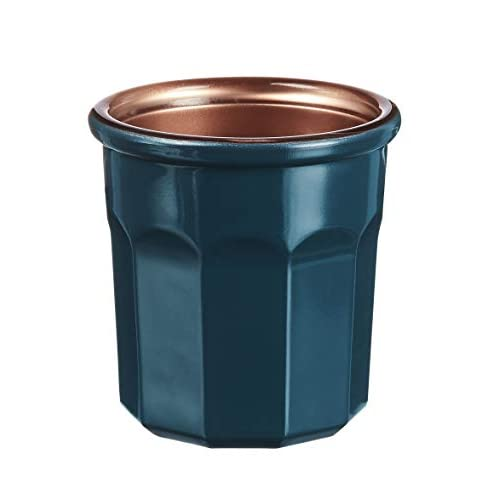 Luminarc – Bicchiere Carnevale 9 cl – Vetro temperato – Bicchiere per bevande calde, vetro, e decorazione, lavabile in lavastoviglie e microonde, prodotto in Francese, colore: blu