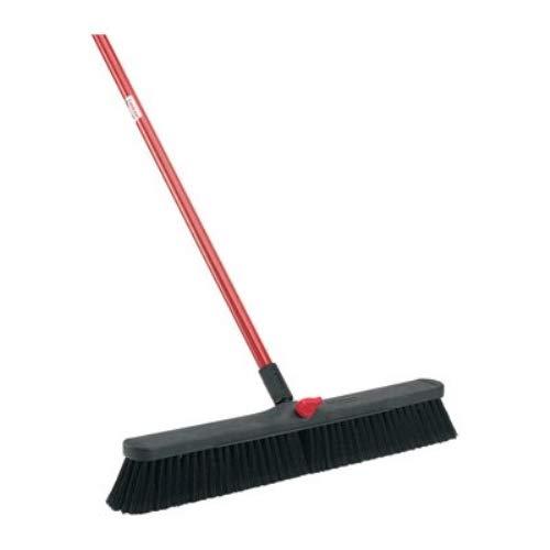 LIBMAN 801.0 Push Broom with Resin Block, Fine Duty Bristles, 24'