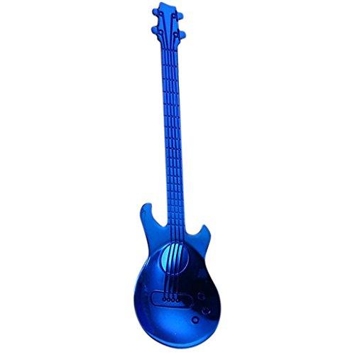 PETSOLA Moderne Gitarren Rührender Löffel Mischender Schaufel Cocktail Löffel Für Bar - Blau