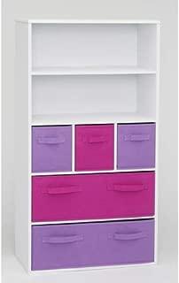 4D Concepts Girl's Storage Bookcase, White