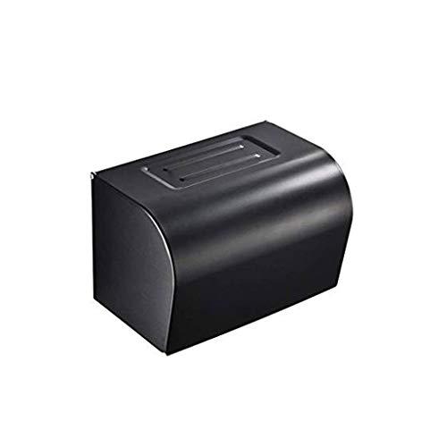 XYZMDJ Papel higiénico titular, completamente cerrado Diseño a prueba de agua con el estante del papel higiénico del titular montado en la pared del papel higiénico del titular con el soporte de teléf