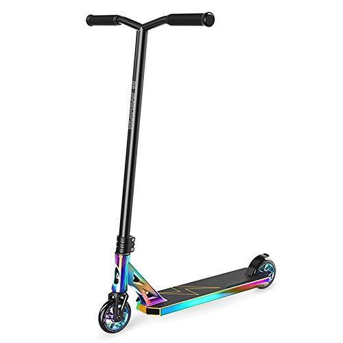 LIYANJJ Pro Scooters Scooters Deportivos - Freestyle 110 mm Aluminium Core Wheels y ABEC-9 Stunt Scooters para niños de 8 años en adelante Scooter de Nivel de Entrada