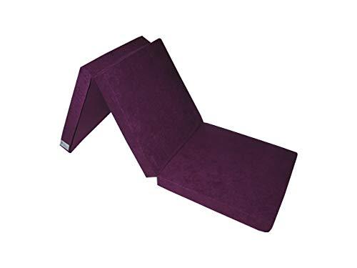 Natalia Spzoo Cama de invitados, colchón plegable 195 x 65 x 8 cm (Violeta)