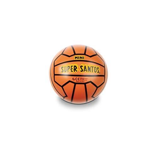 Mondo Toys - Palla da Calcio SUPER SANTOS MINI PVC per bambina/bambino - Colore arancione - 05226