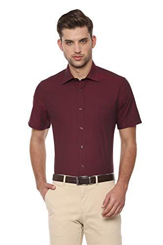 Louis Philippe Men's Solid Regular fit Formal Shirt (LPSHMCLBD29868_Red 40)