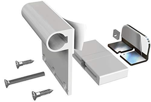 Windhager Insektenschutz Klemmadapter für Rahmentüren, Zubehör Montage Fliegengitter ohne bohren, weiß, 03874