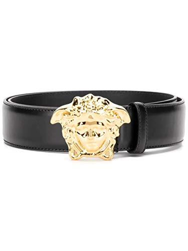 Versace Luxury Fashion Herren DCU4140DVTP1D41OH Schwarz Leder Gürtel | Jahreszeit Permanent