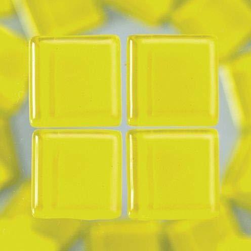 MosaixSoft 10x 10x 4mm 200g 215-piece Glas Fliesen, gelb