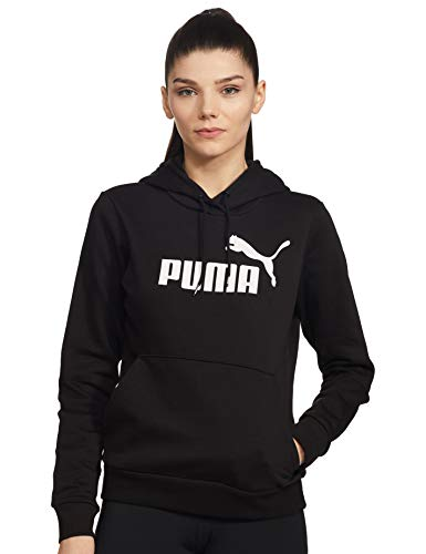 PUMA Damen ESS Logo Hoody FL Sweatshirt, Cotton Black, XL