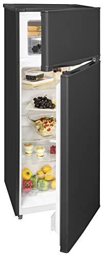 Exquisit Frigorífico y congelador KGC 270/45-9 A++ MS | dispositivo de pie | 206 L de capacidad neta, negro mate