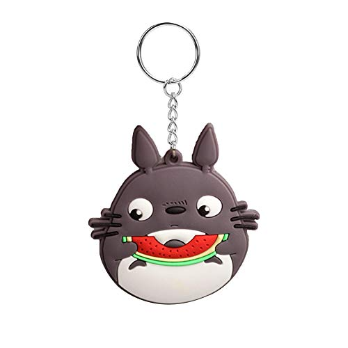 Christ For Givek Totoro Doll Keychain Cartoon Metal/Soft Glue Key Ring Pendant Toy Gift for Child( H07)
