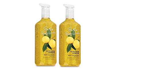 Bath and Body Works Deep Cleansing Hand Soap, Kitchen Lemon, 8 fl. oz. Lot of 2